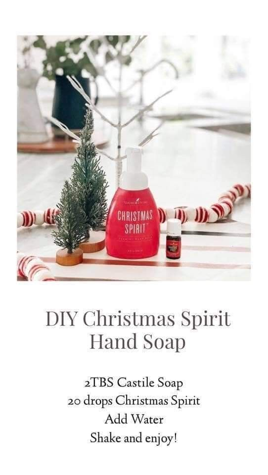 Pin by Alicia Miller on Young Living (With images)   Diy foaming hand soap, Christmas spirit ...