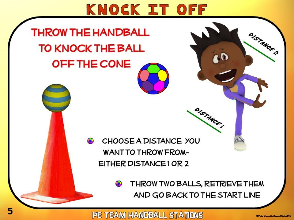 Pe Team Handball Stations 20 Quot Throw Away Quot Zones Pe