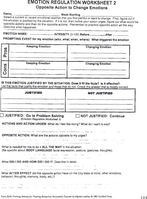 HealingFromBPD Emotion Regulation Worksheet 2 with Personal