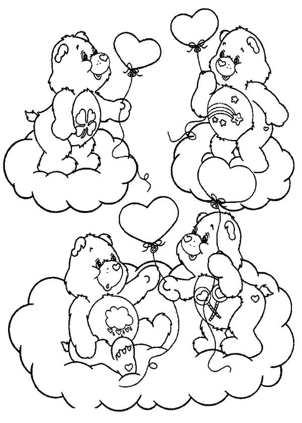 Care Bears Give A Friend A Balloon Coloring Pages Best Place To Color In 2020 Bear Coloring Pages Coloring Pages Cute Coloring Pages