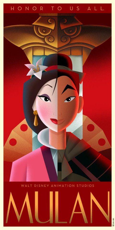 Les affiches Disney Art déco de David G. Ferrero (partie 2)