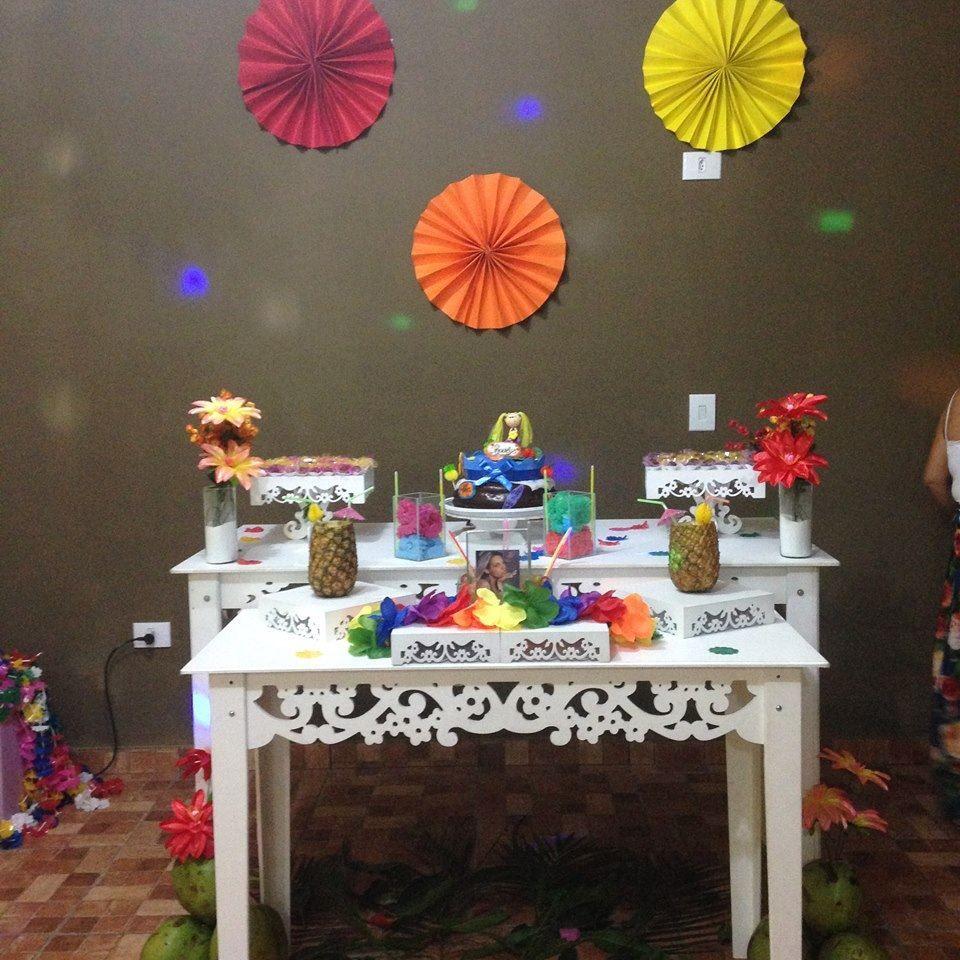 festa Havaiana, moça, comemoraç u00e3o, Hawai, decoraç u00e3o provençal, clean, adolescente, clean, adulto  -> Decoração Havaiana Simples