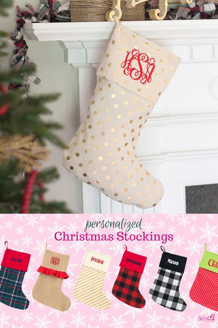 Personalized Monogrammed Christmas Stocking | Christmas | Pinterest ...