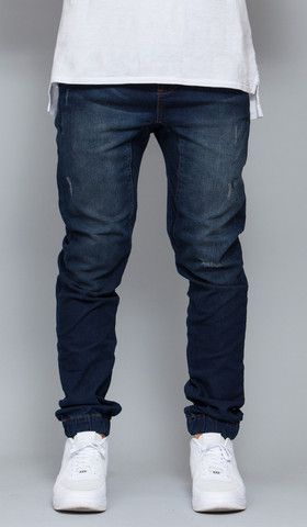 ffa93819ae469a Indigo Drop Crotch Denim Jogger in 2019 | Things to Wear | Denim ...