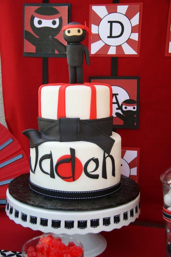 Ninja Birthday Cake Childrens Birthday Cakes Karate Party