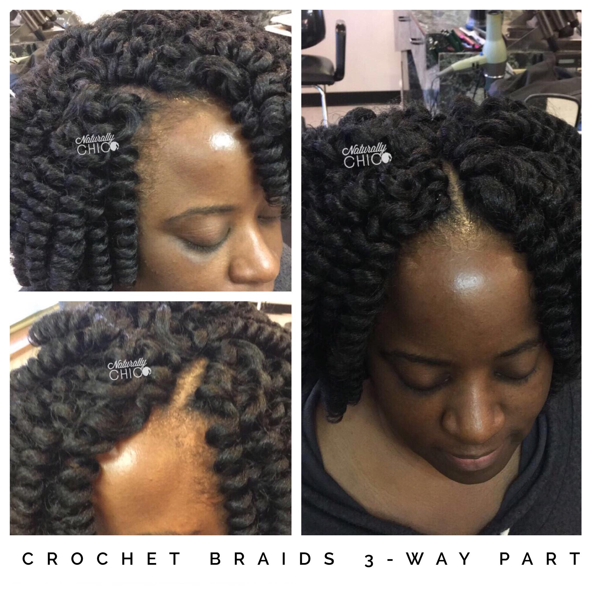 Crochet Braids 3 Way Part Hair Used Curlkalon Natural Hair Salons Natural Hair Styles Relaxed Hair
