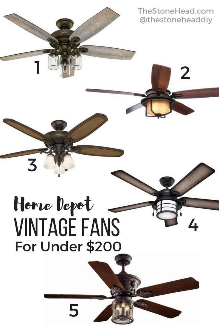 Vintage Ceiling Fans For Under 200 Vintage Ceiling Fans Ceiling Fan Family Room Lighting