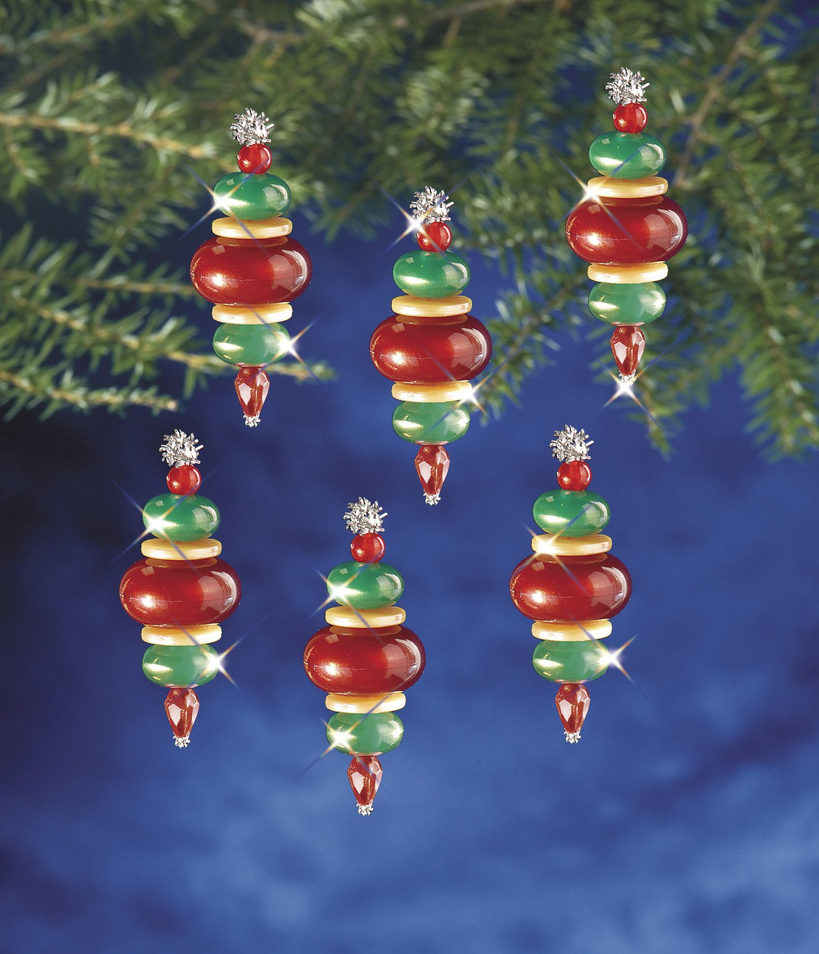 Beadery Holiday Ornament Kit Victorian Baubles 5941 Christmas Ornament Crafts Holiday Beading Christmas Ornaments