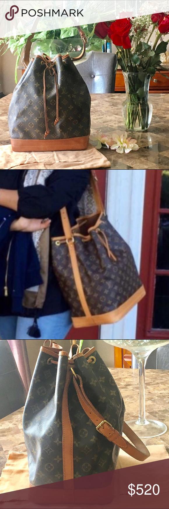 c3830d895338 100% Authentic Louis Vuitton NOE shoulder bag 100% Louis Vuitton NOE  monogram shoulder bag. Looks like new! Not original LV drawstring.