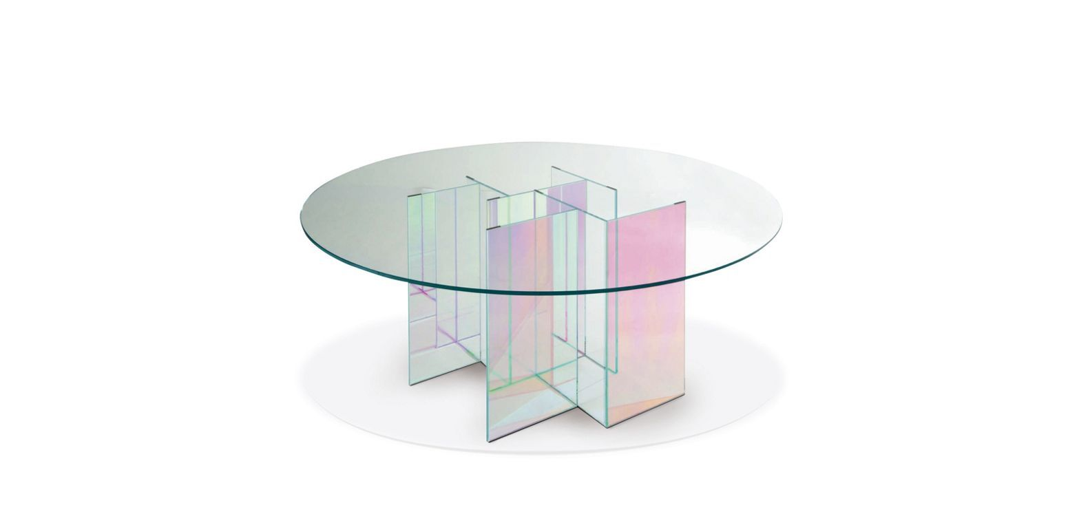 Diapo Dining Table Roche Bobois Laminated Glass Table