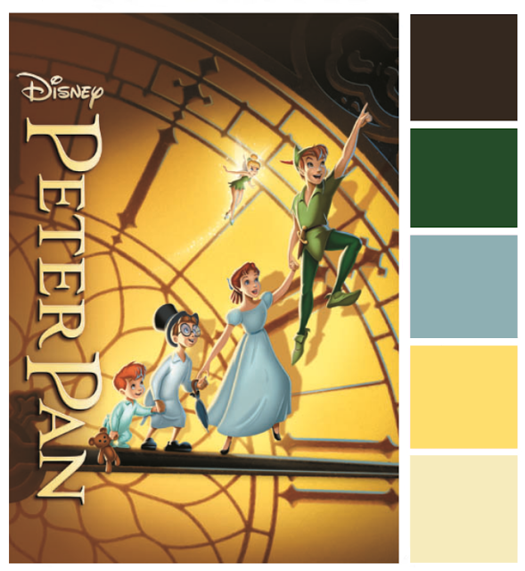 Poster Palette Peter Pan Inspired By Dis Web Design