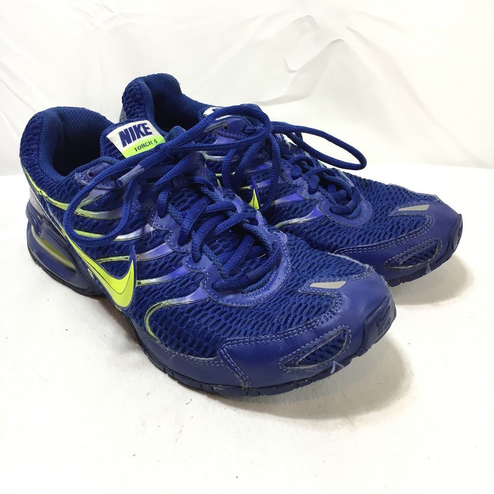 huge selection of 745c1 d1a9b Nike 343846-407 Air Max Torch 4 Mens 9.5 Blue Yellow Lace Up running shoes    eBay