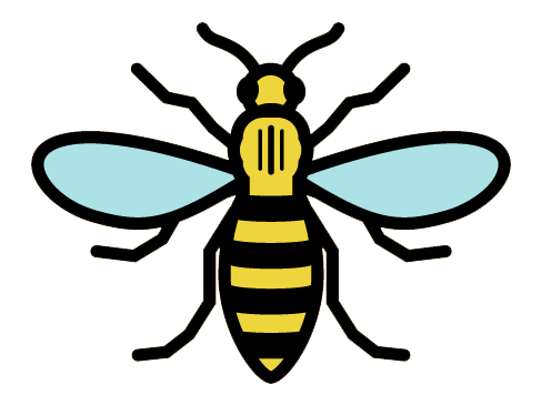 bee of manchester logo tattoo ideas pinterest. Black Bedroom Furniture Sets. Home Design Ideas