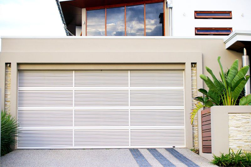 Steel Line Louvre Garage Door   Its Ability To Provide Privacy For What Is  Inside