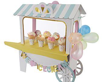 Ice Cream Party - Ice Cream Centerpiece - Birthday Centerpiece - Girls Party Decoration - Ice Cream Cone Party