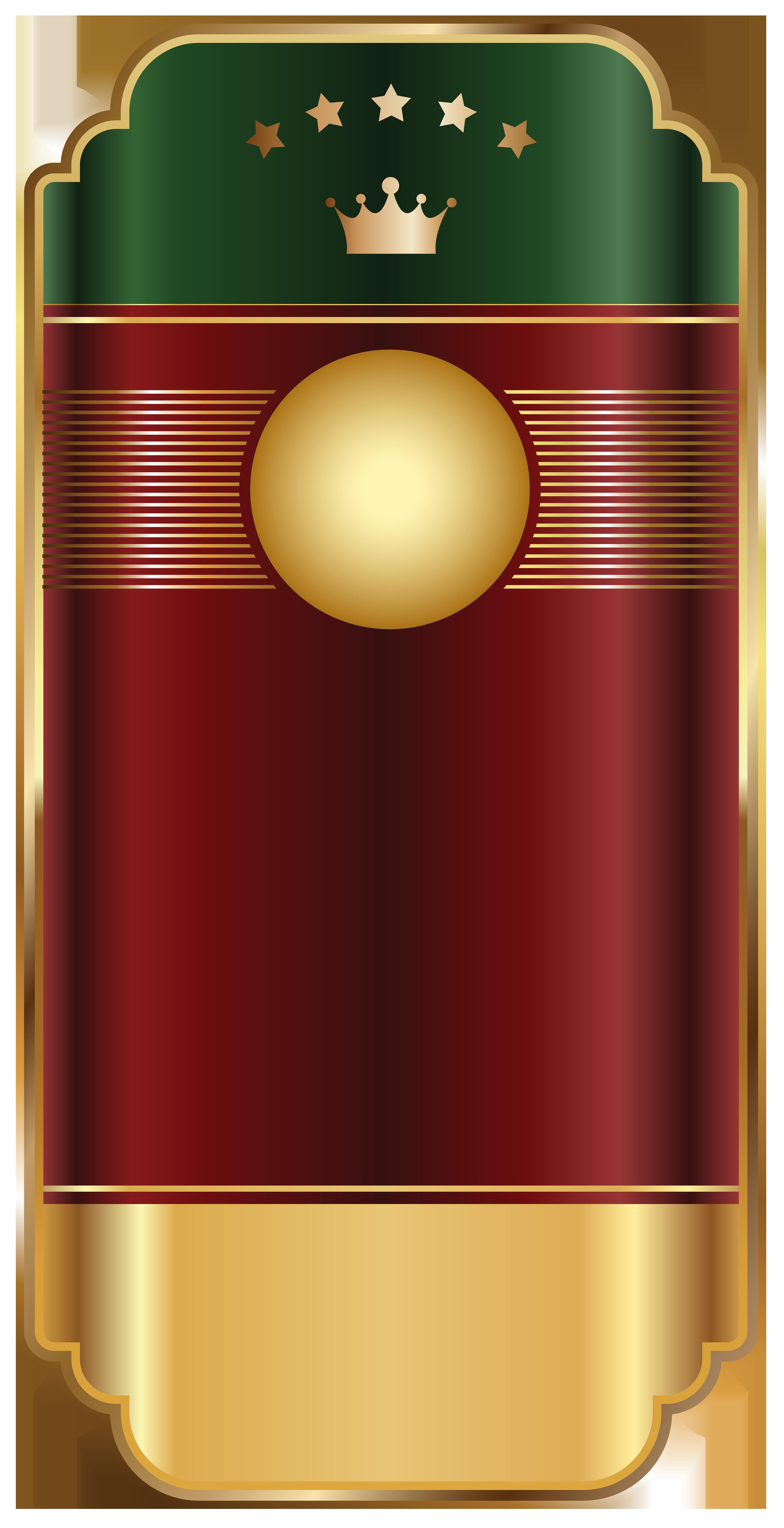 Gold Red Label Template Transparent Png Clip Art Image  Etiquetas