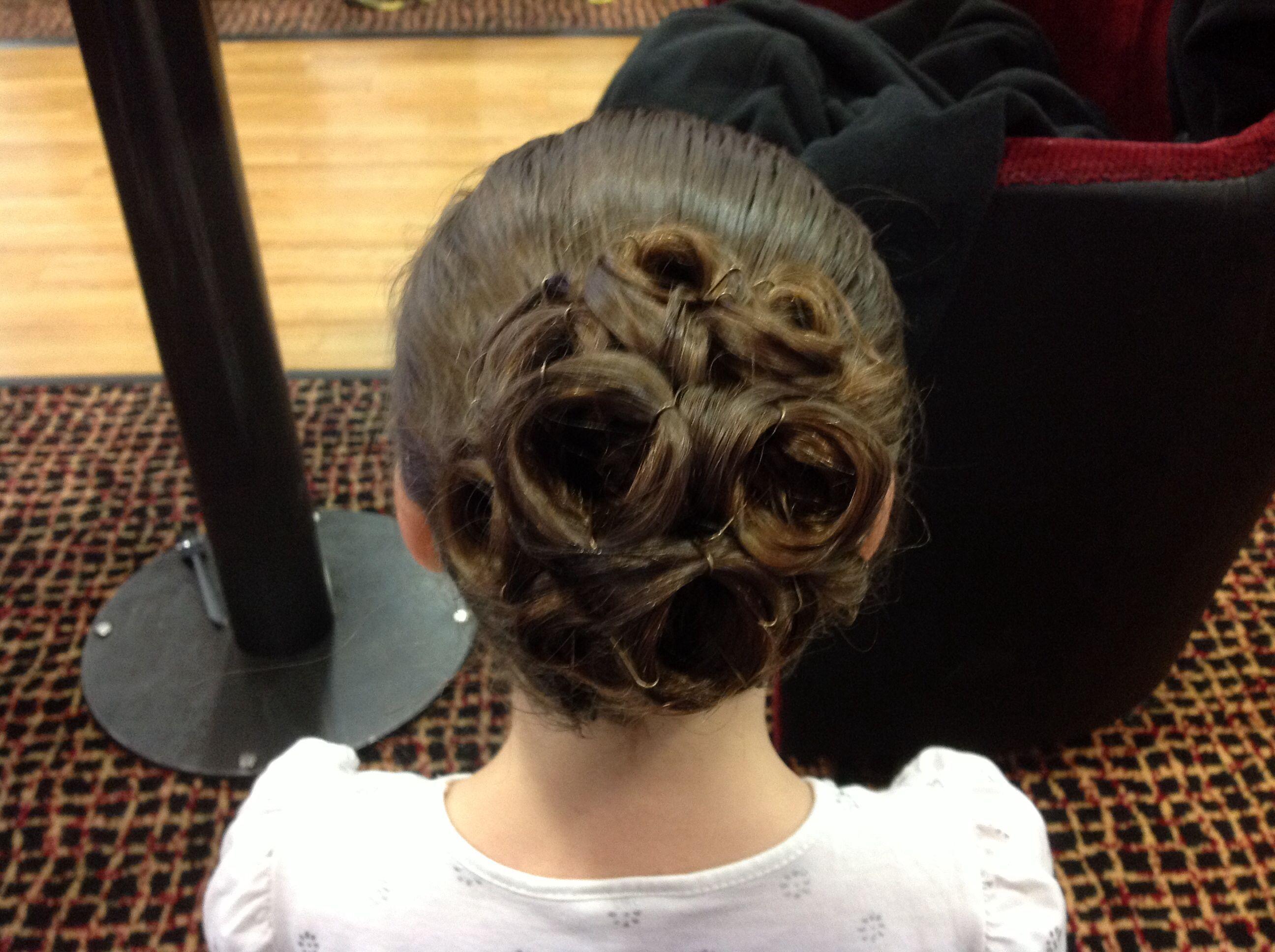juvenile ballroom competition hair.   hair   ballroom dance