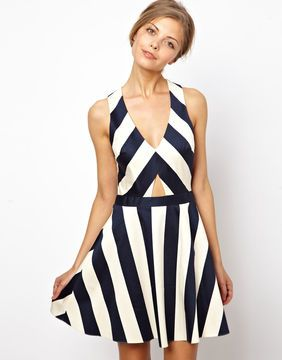 a7bf52d37376 ShopStyle.co.uk: ASOS Stripe Skater Dress £40.00 | Style passion ...