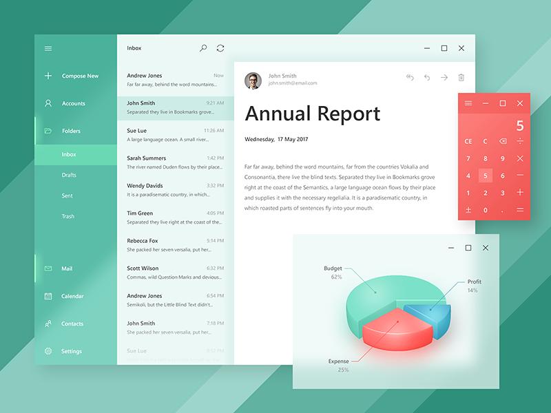Inspired By Fluent Design Vol 2 Fluent Design App Design Web Design Trends