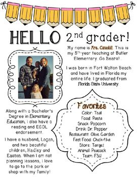 d269c24b2b5cd518fa83dd5459de2dda Teacher Introduction Newsletter Template on owl theme, for first grade, free preschool,