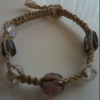 One of my work...hemp bracelet with beads