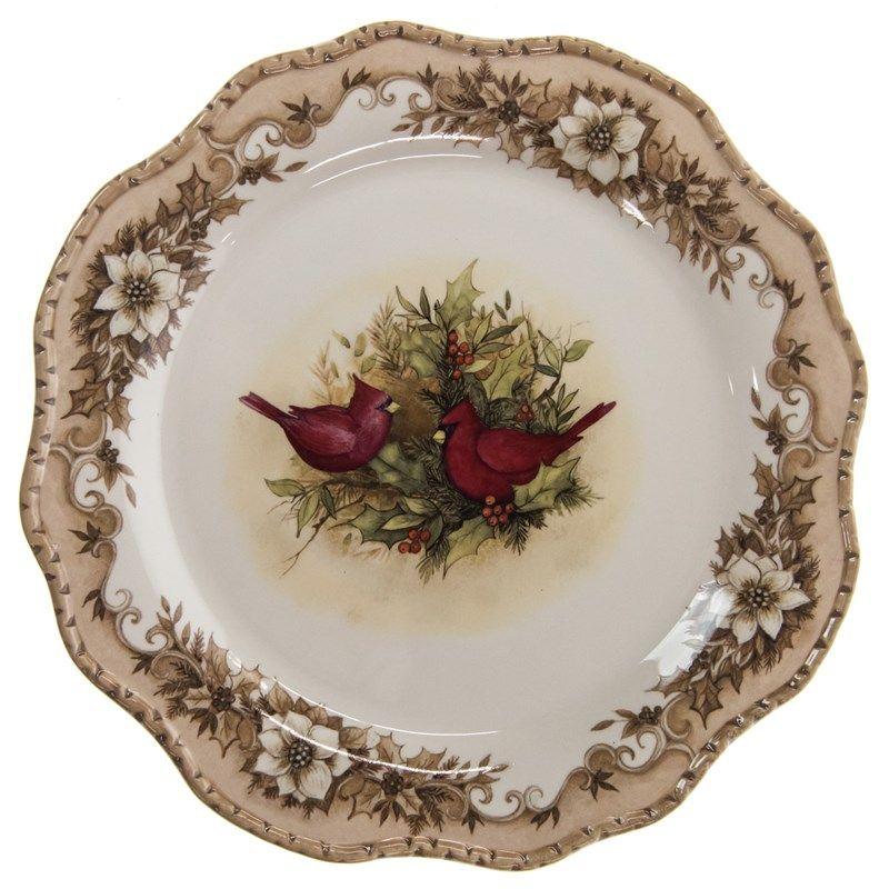 Woodland Cardinal Stoneware Dinner Plate Dinner Plates Plates
