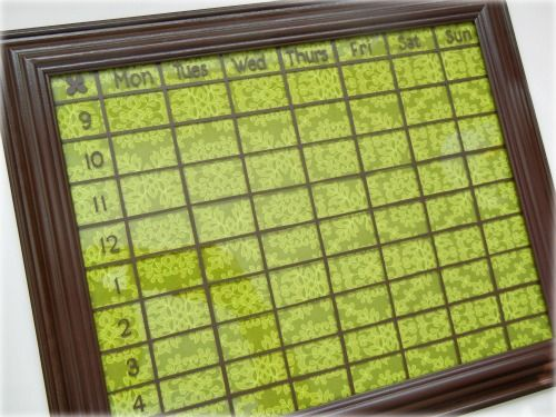 DIY dry erase calendar! weekly version picture frame, your favorite