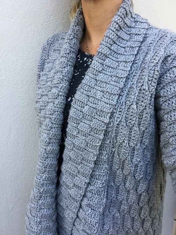 Autumn Leaves Crochet Cardigan Pattern for Women Open Style with ...