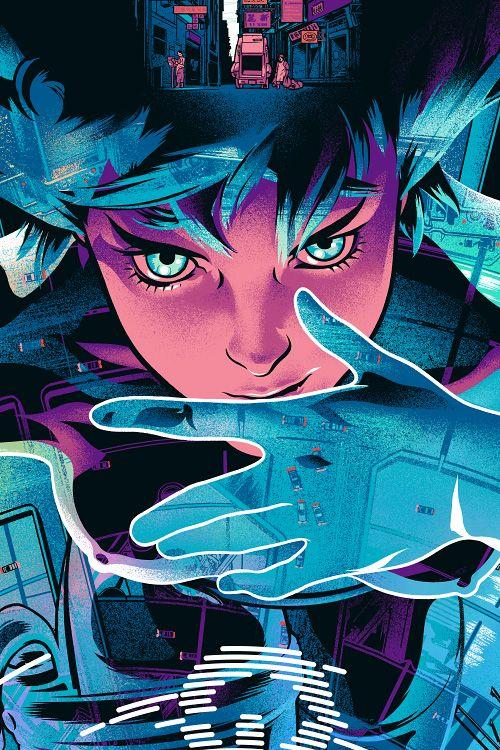 Martin Ansin Illustrator Illustration Portfolio Ghost In The Shell Anime Cyberpunk Art