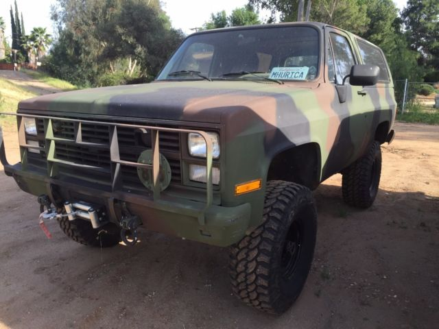 1985 Chevy Blazer K5 Cucv M1009 Military For Sale Photos