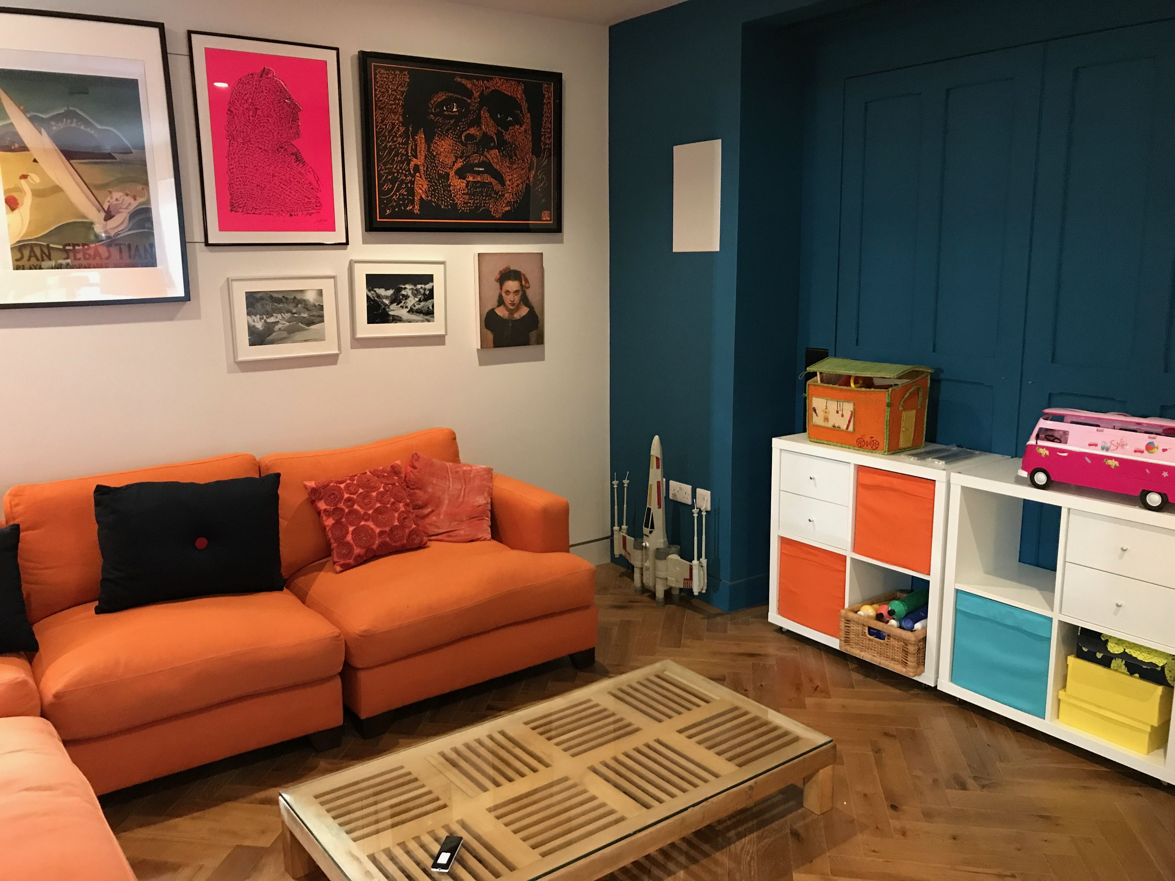 This new basement was created for a new playroom that
