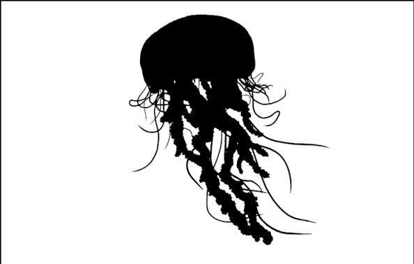 Jellyfish Silhouette And Ocean Inspiration Art Prints For Home Clip Art