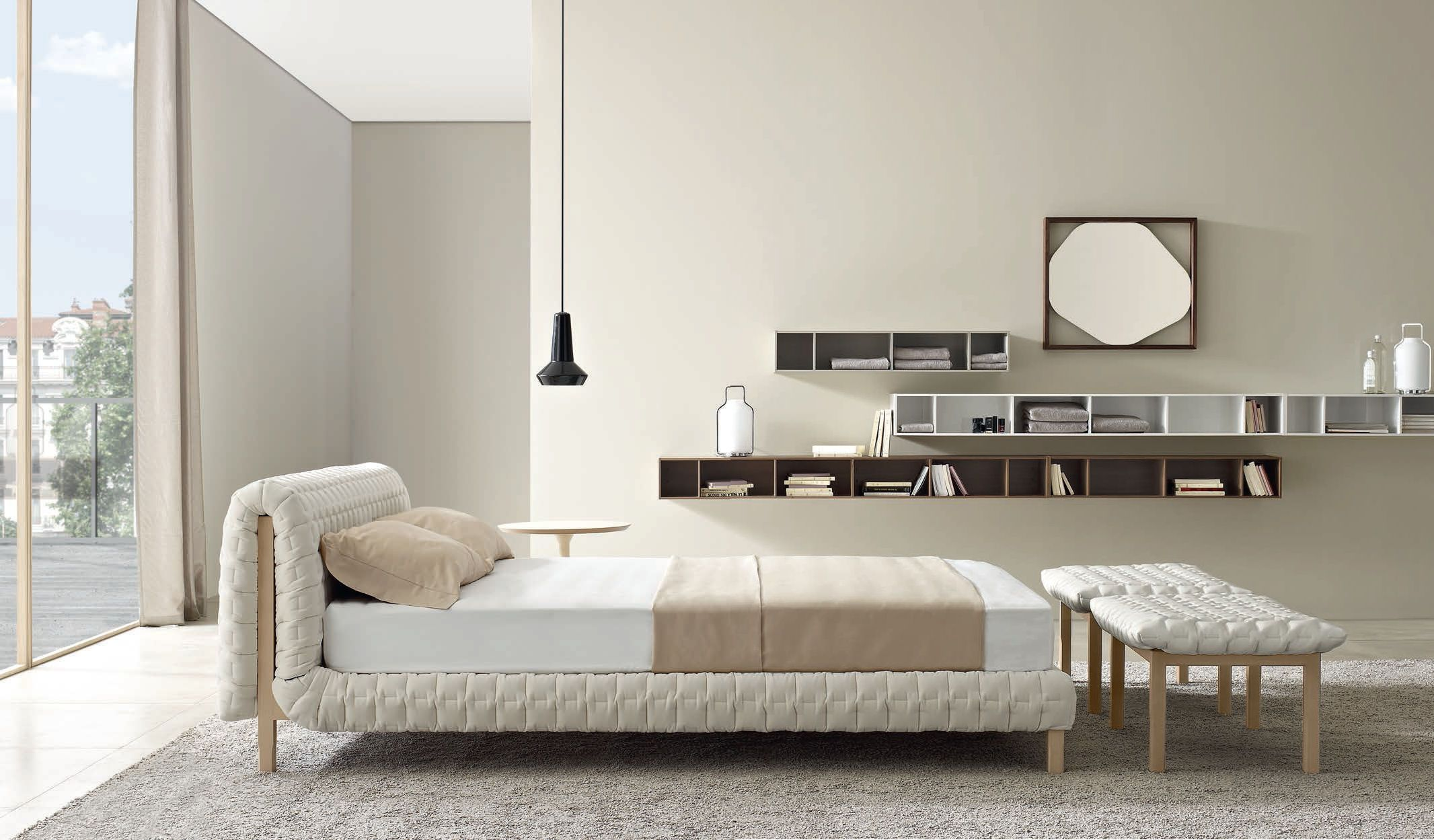 Ligne Roset Ruché Bed Low Headboard | A Bed to Dream Well | Pinterest
