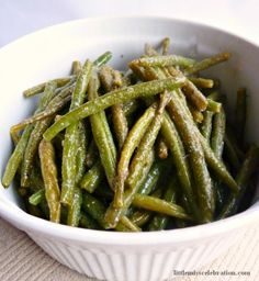 Caesar Green Beans  This is so totally simple – no measurements! A few ingredients and it's just cook and dash on some spices and cheese!  I...