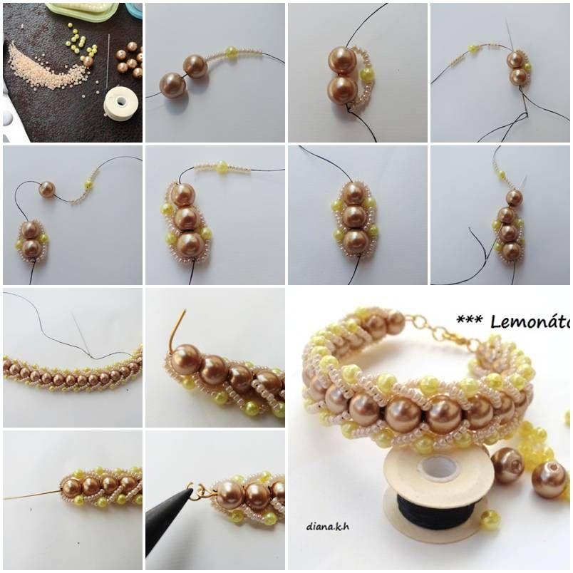 DIY Elegant Beads Bracelet | Pearl bracelet, DIY tutorial and ...