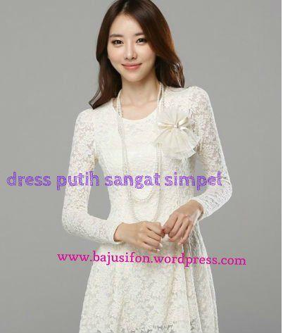 Baju Pesta Baju Simple Terbaru Dress Putih Sangat Simple Baju