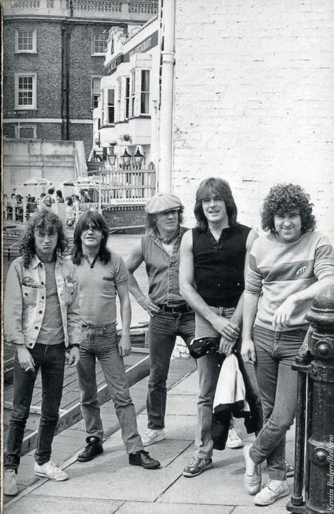 AC/DC in Cambridge, England. 1984. | Acdc, Rock music, Malcolm young