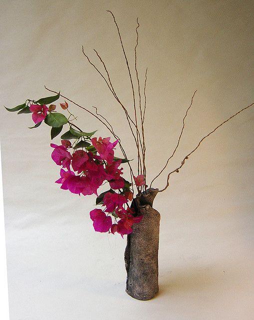 Ikebana Freestyle. Bougainvillea by urban don, via Flickr