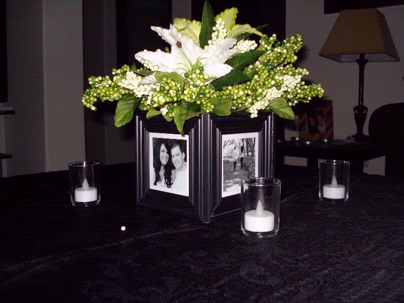 Glue Dollar Store Frames Around A Cube Vase Pictures Of Graduate At