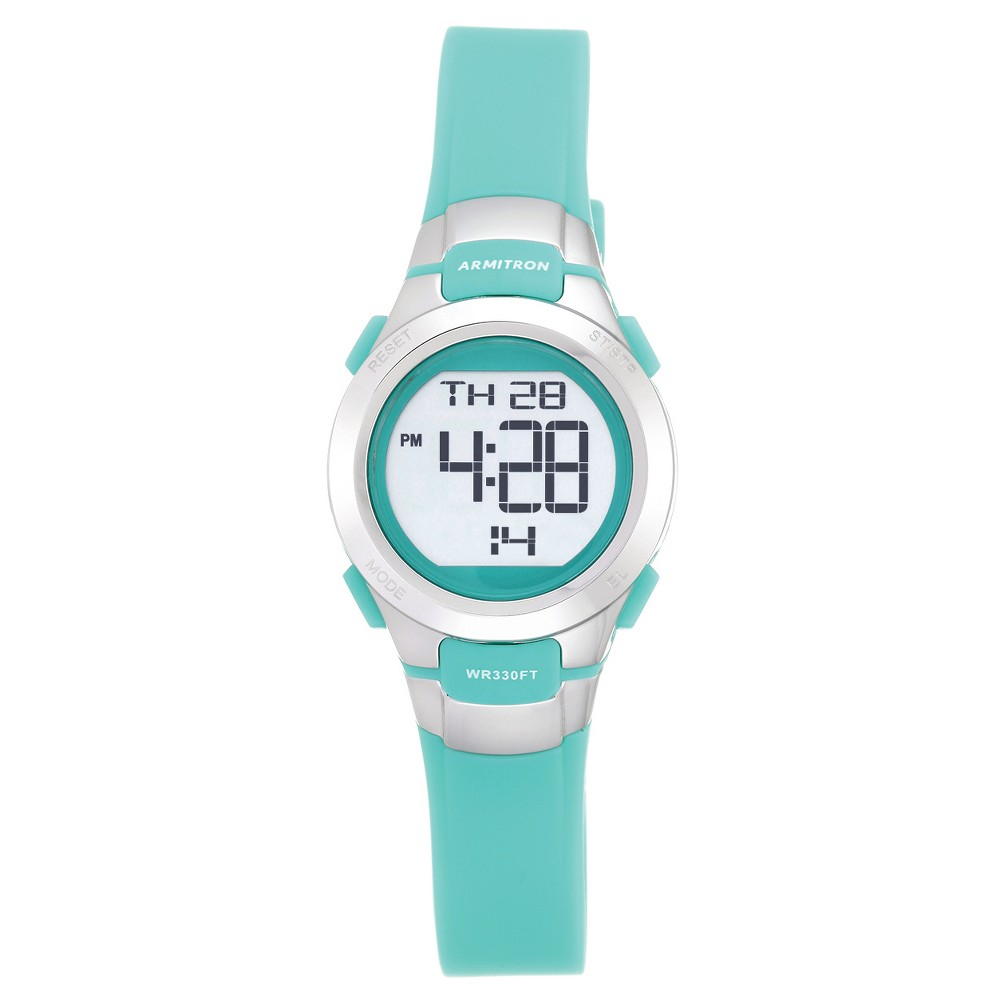 Women's Armitron ProSport Teal Digital Watch Silver