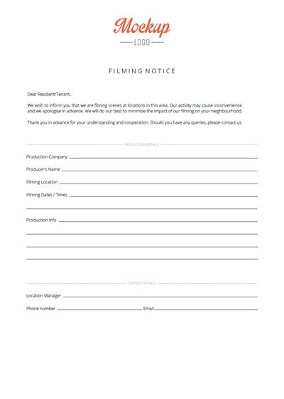 Talent release form for film Talent release form for film Treat - property manager cover letter