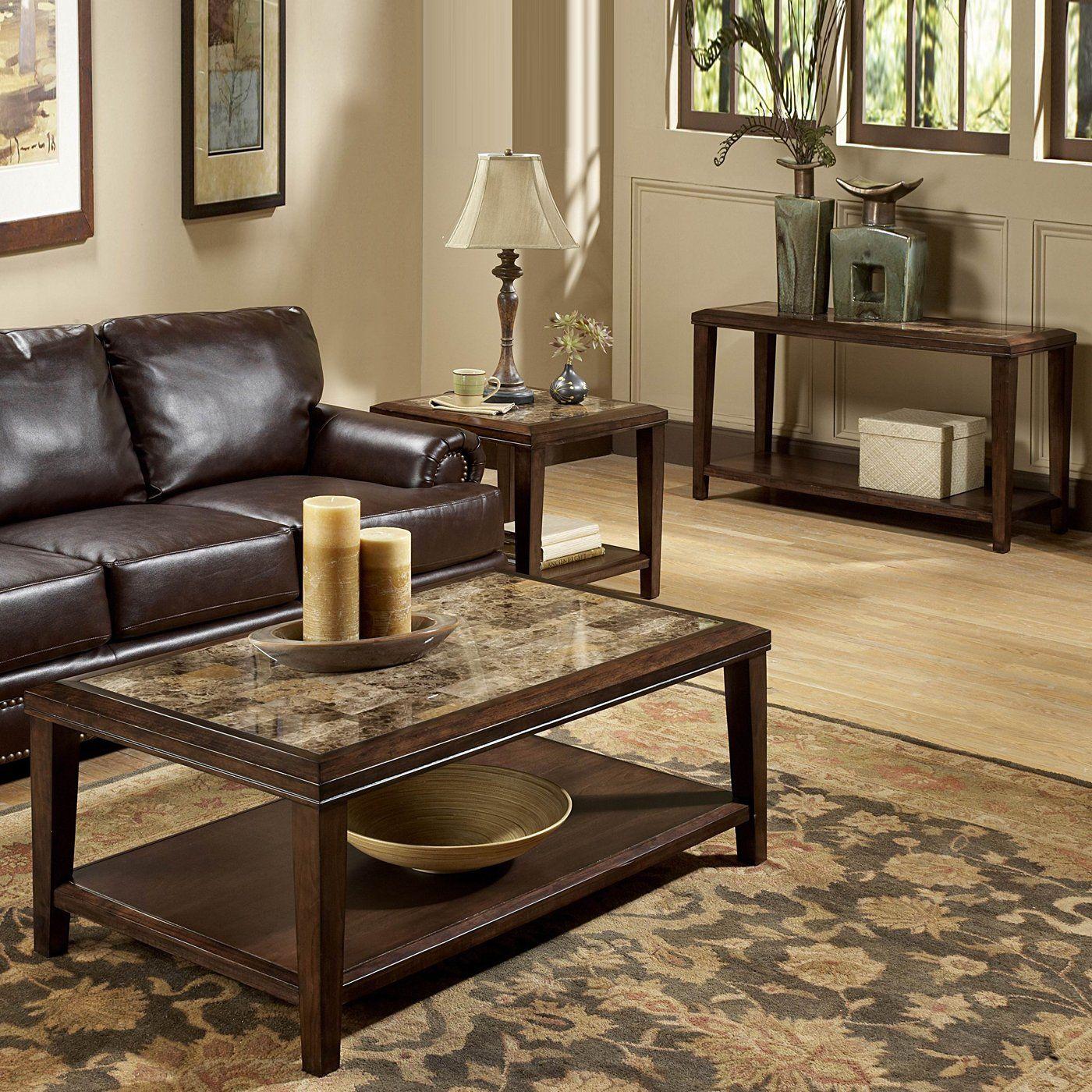 Best Homelegance Belvedere Cocktail Coffee Table Set Espresso 400 x 300