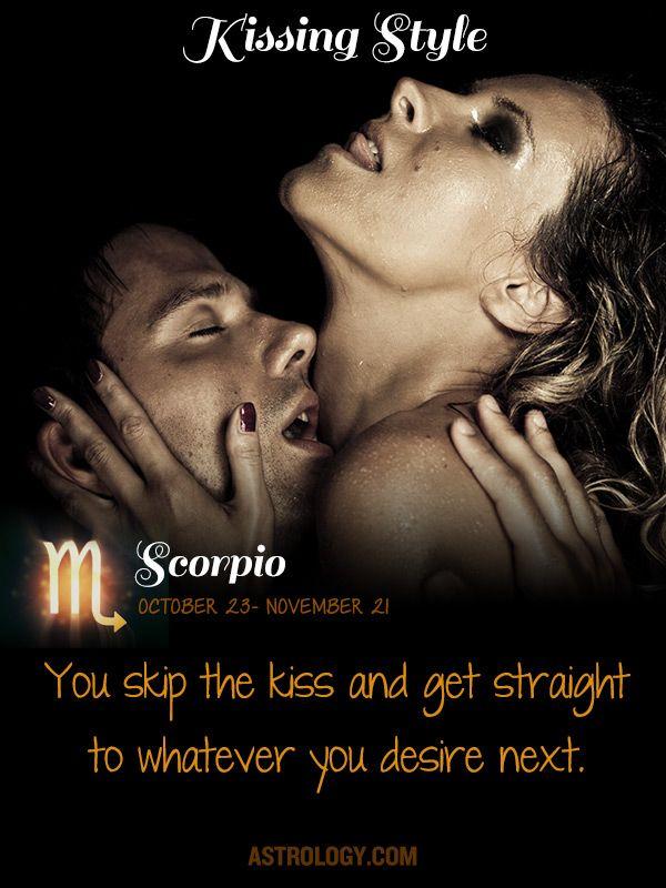 Scorpio man kiss