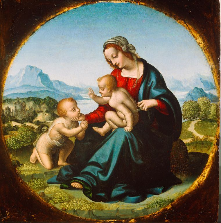 "The Madonna of the Lake (""Madonna del Lago""), c. 1520.  Marco d'Oggiono, Milanese, 1475-d. 1530  Oil on panel"