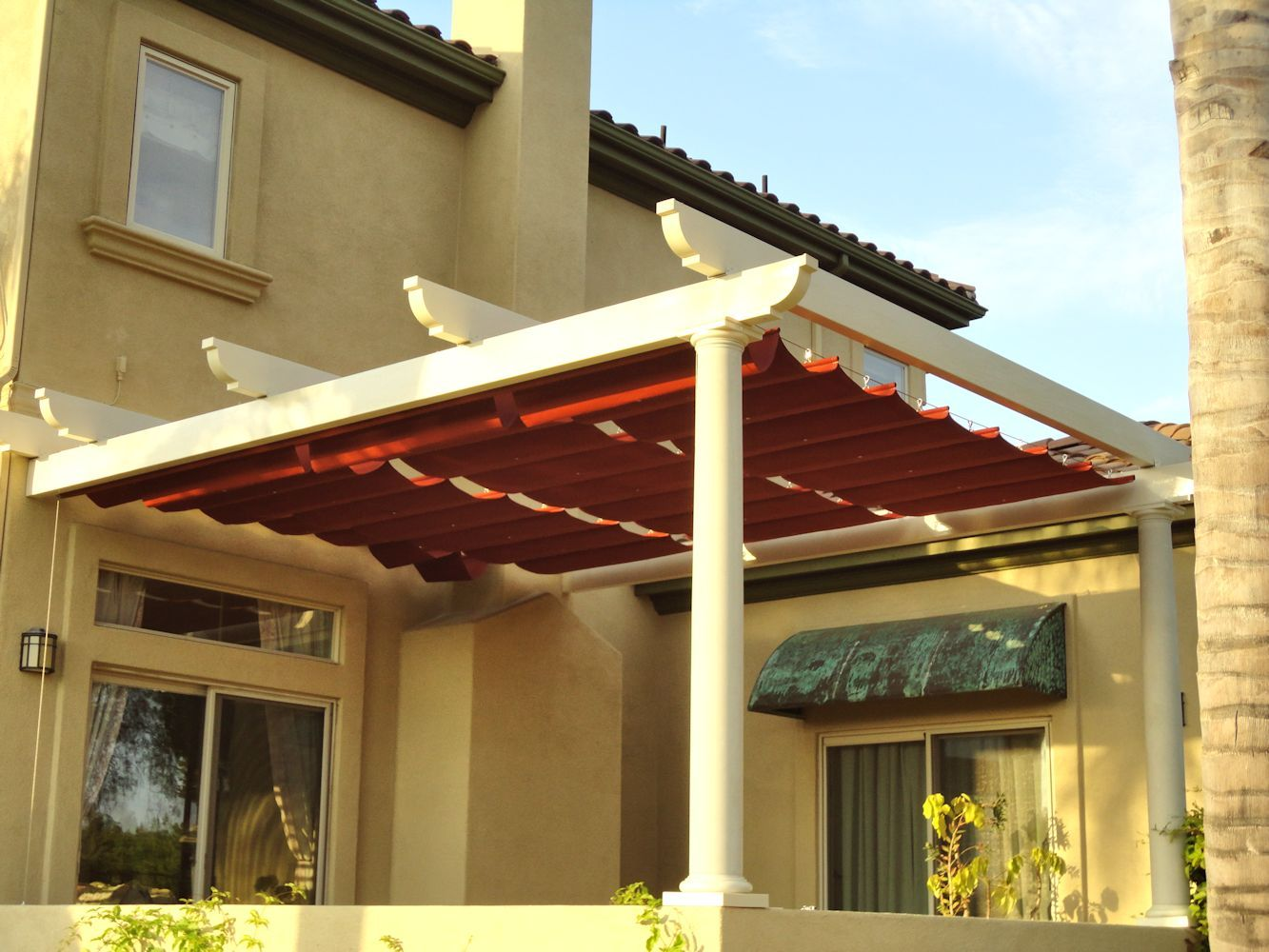 Slide Wire Cable Awnings By Superior Awning Let The Sun Shine Patio Canopy Canopy Outdoor Backyard Canopy