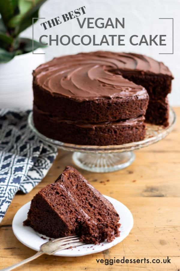 Get This Light And Fluffy Easy Vegan Chocolate Cake Recipe This Vegan Cake Tastes D Vegan Chocolate Cake Vegan Chocolate Cake Recipe Vegan Chocolate Cake Easy