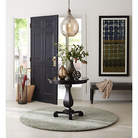 Esme Bruno Pedestal Table As Entryway Table | Crate And Barrel