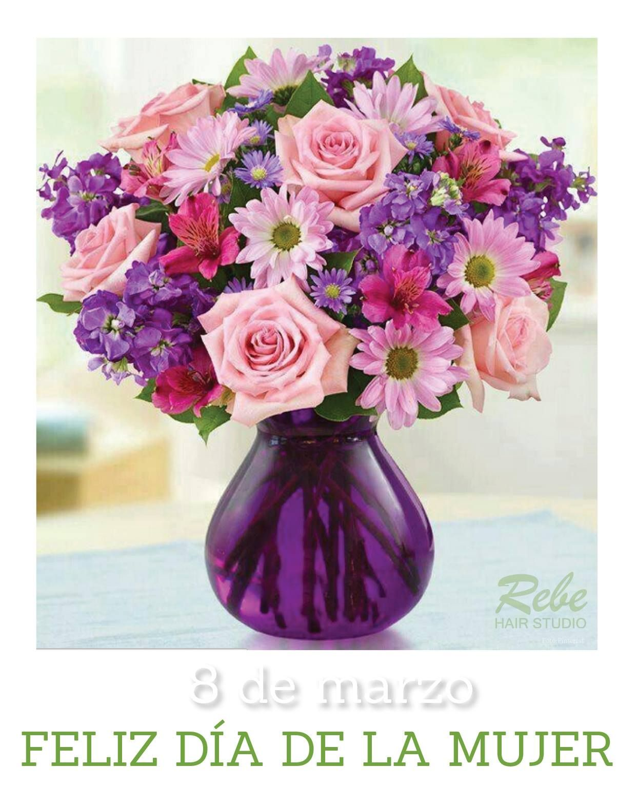 Flores dia de la mujer manualidades pinterest hair studio call to send birthday flowers in the roanoke salem or vinton va areas or nationwide izmirmasajfo
