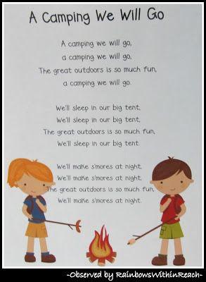 Camping Preschool Pack Free Preschool Printables