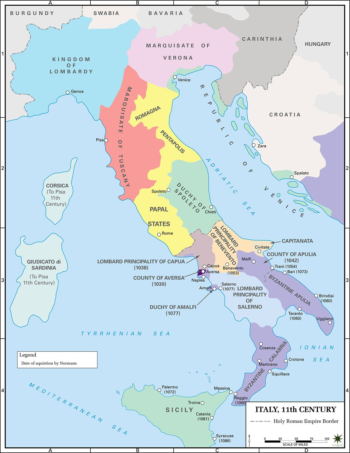 Political map of italy in the 11th century kingdom of piedmonte political map of italy in the 11th century gumiabroncs Image collections